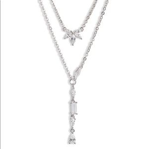 Nordstrom Crystal Pendant Layered Necklace